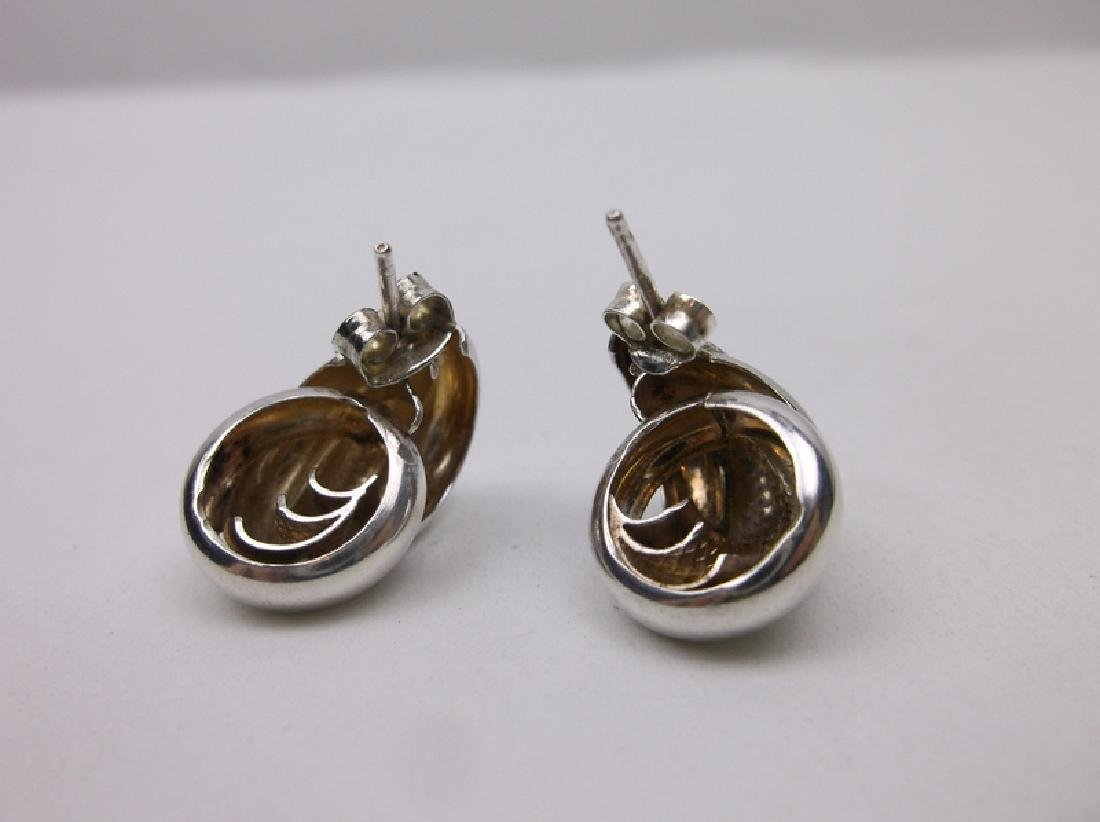 Gorgeous Sterling Silver Circle Stud Earrings - 2
