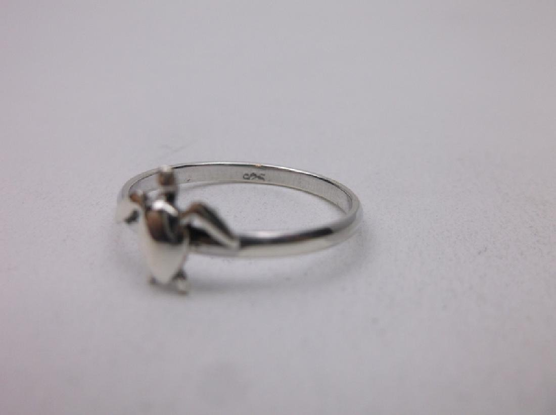 Stunning Sterling Silver Turtle Ring 7 - 2