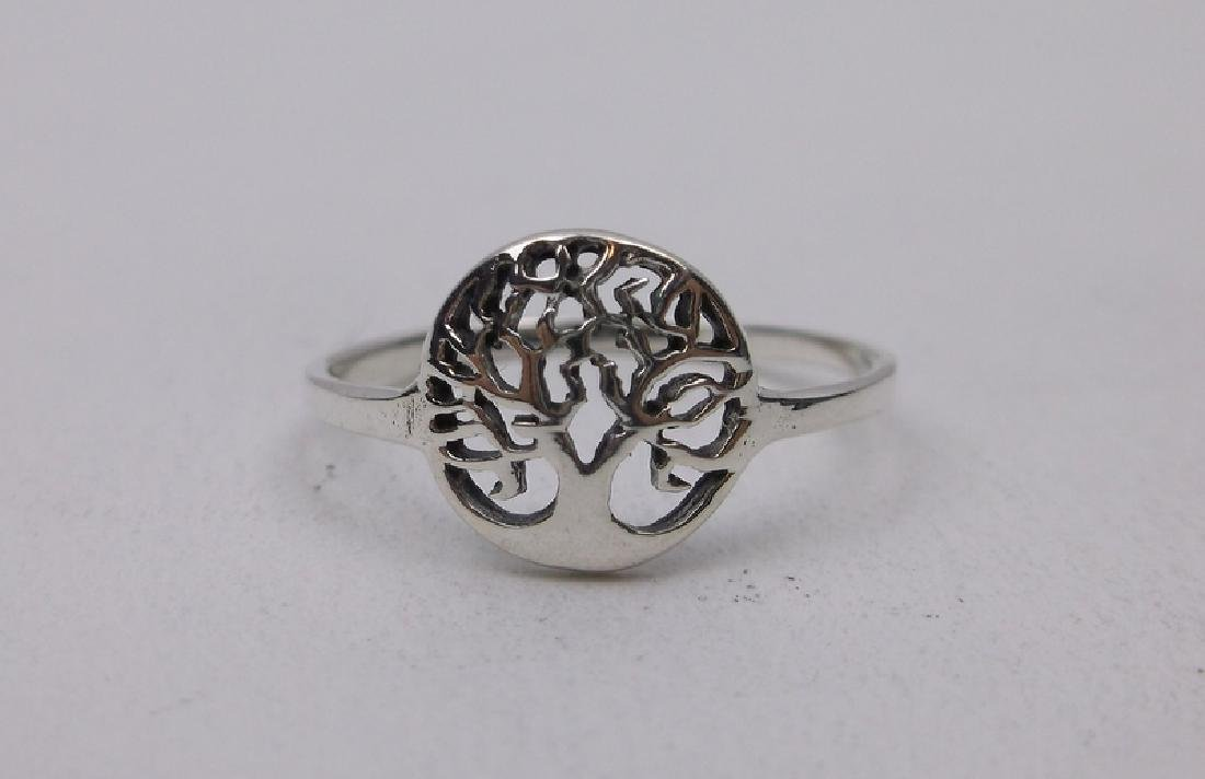 Gorgeous Sterling Silver Tree of Life Ring 7
