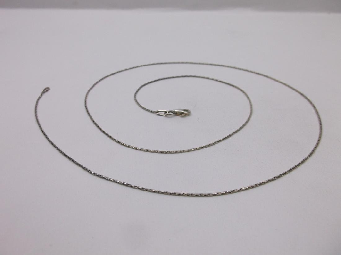 New Sterling Silver Chain Necklace 24""