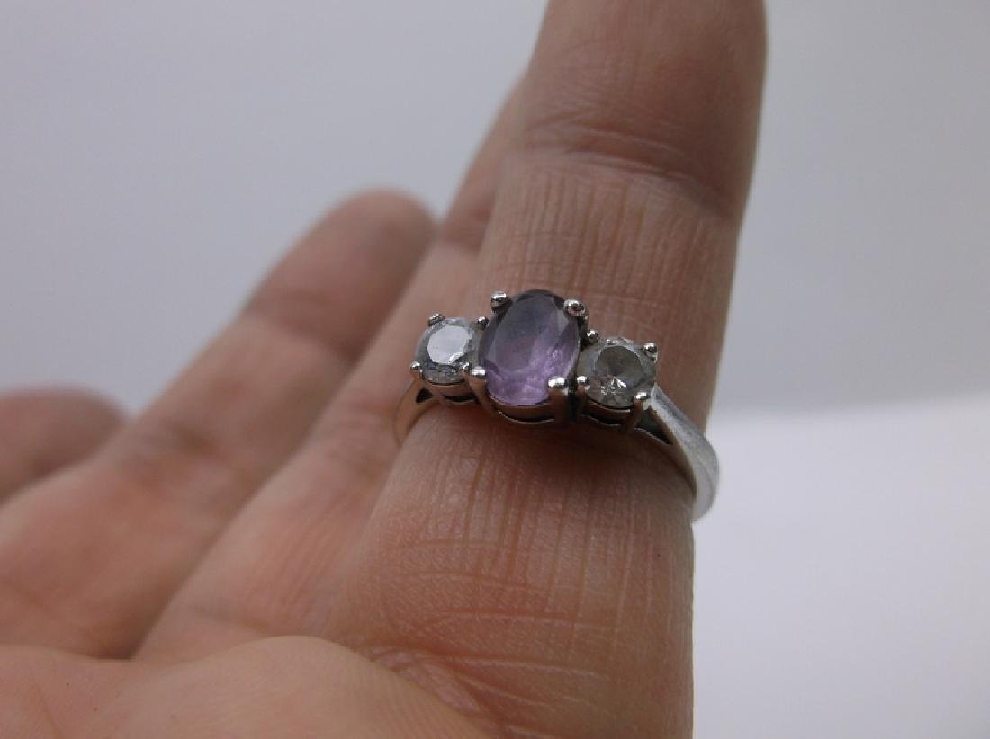 Gorgeous Sterling Silver Amethyst Ring 7