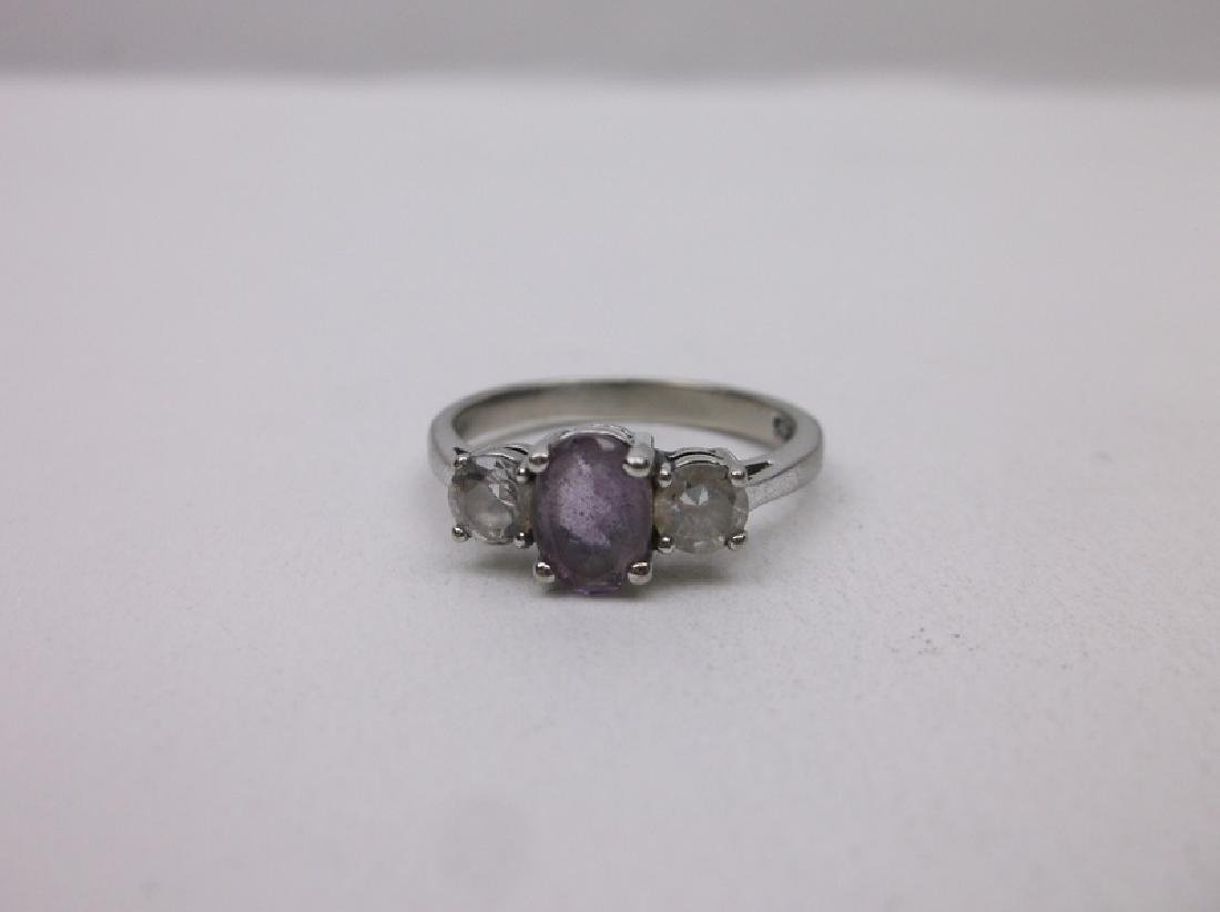 Gorgeous Sterling Silver Amethyst Ring 7 - 2