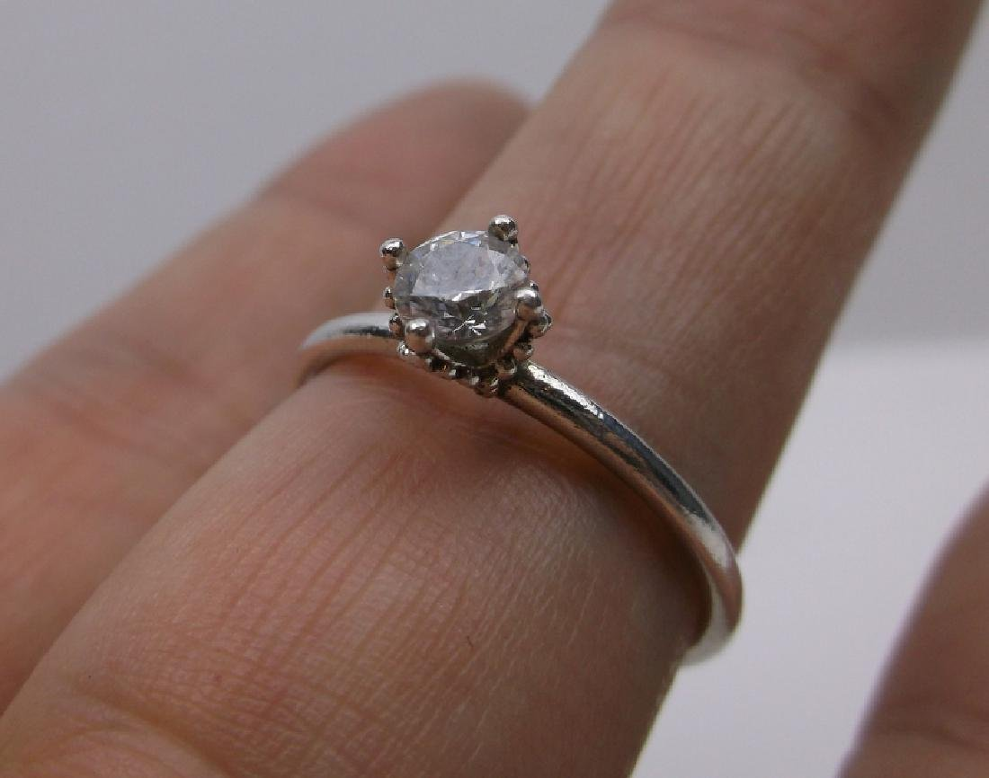 Gorgeous Sterling Silver Engagement Ring 8.75