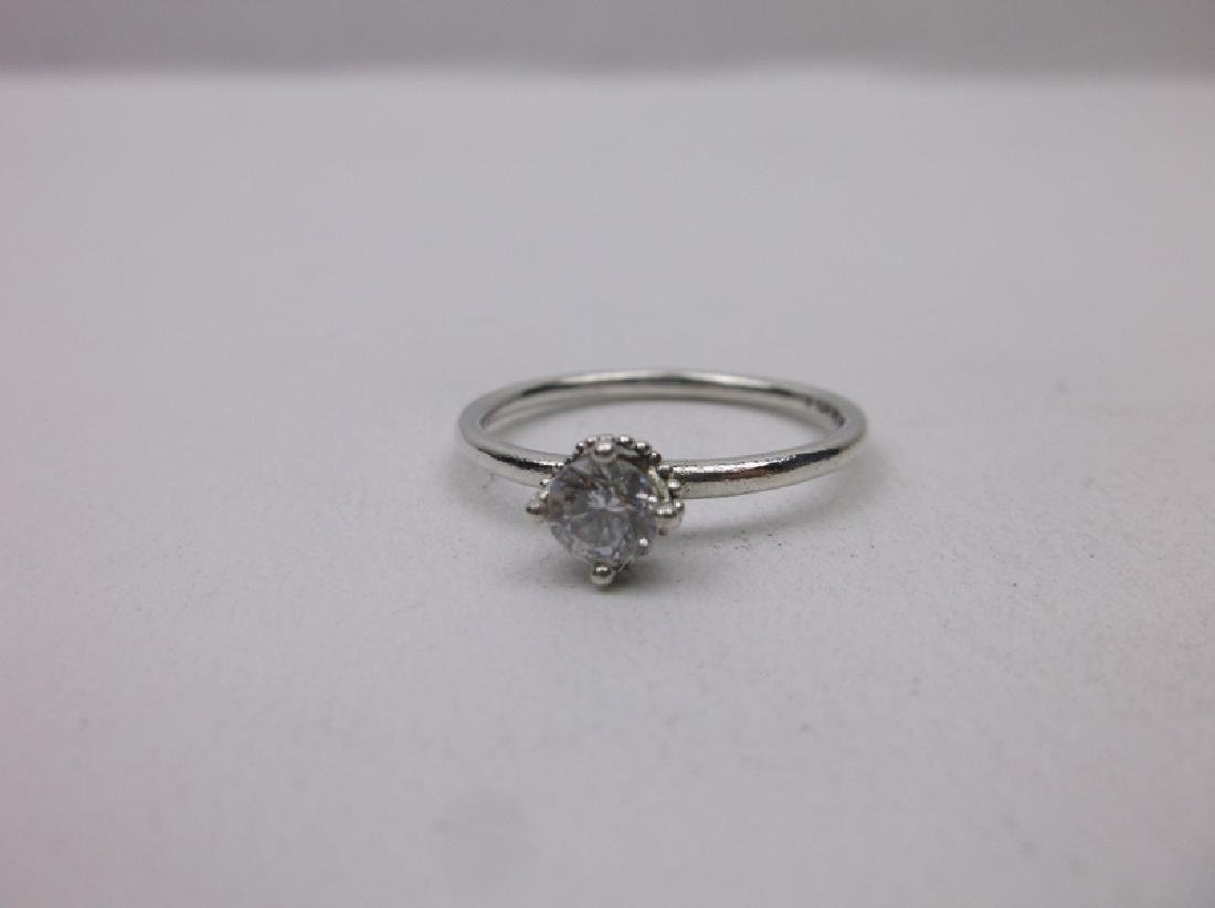 Gorgeous Sterling Silver Engagement Ring 8.75 - 2