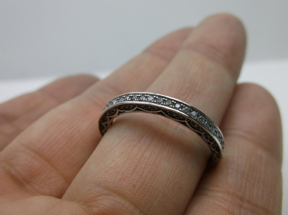 Stunning Sterling Silver White Stone Ring 11 - 2
