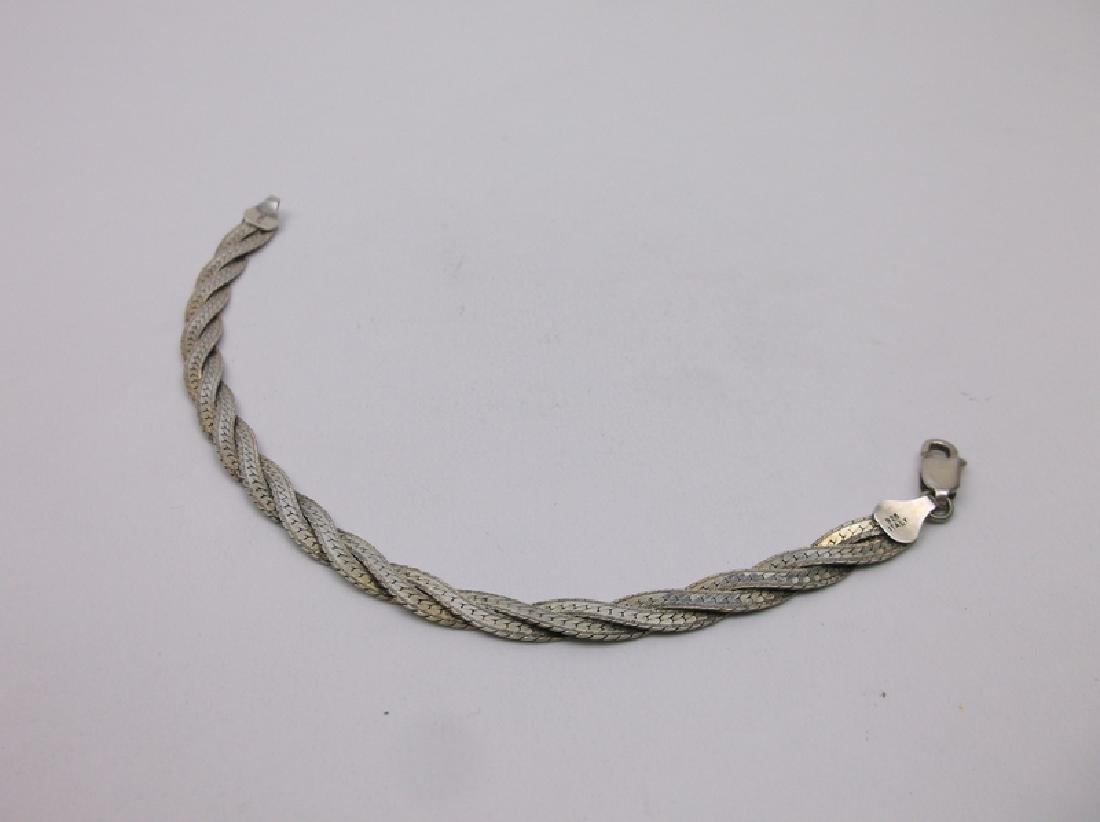Gorgeous Sterling Silver Weave Bracelet 7 Inch - 2