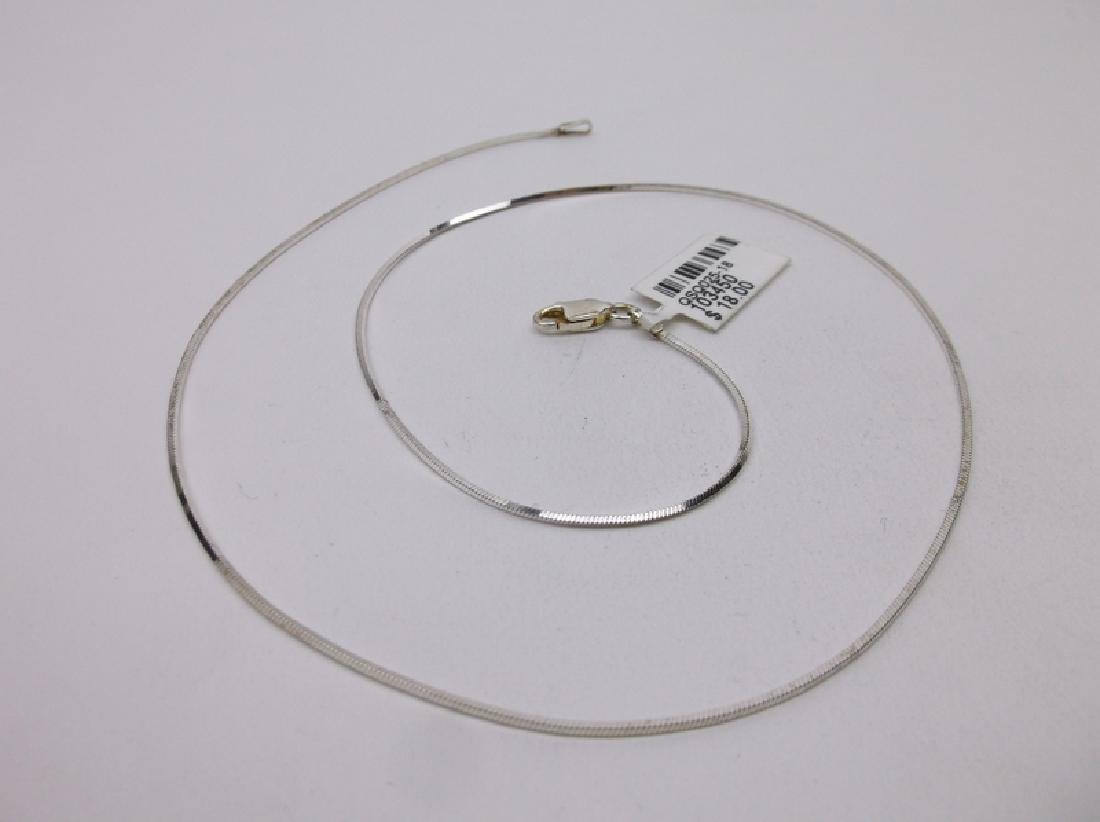 """New Sterling Silver Chain Necklace 18"""""""