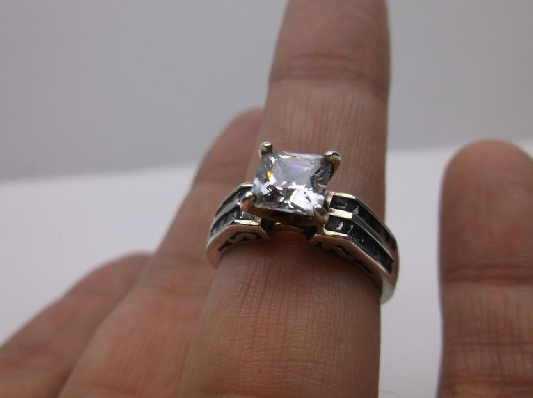 Gorgeous Sterling Silver Engagement Ring 9