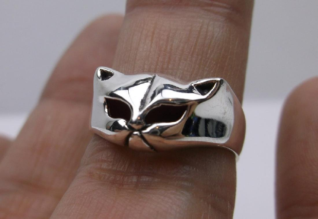 Stunning Sterling Silver Cat Face Ring 7 Kitty