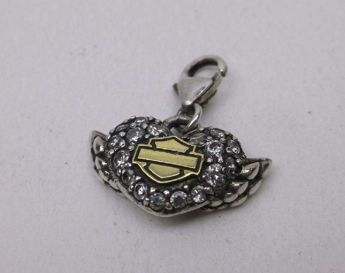 Gorgeous Sterling Harley Davidson Charm Wings