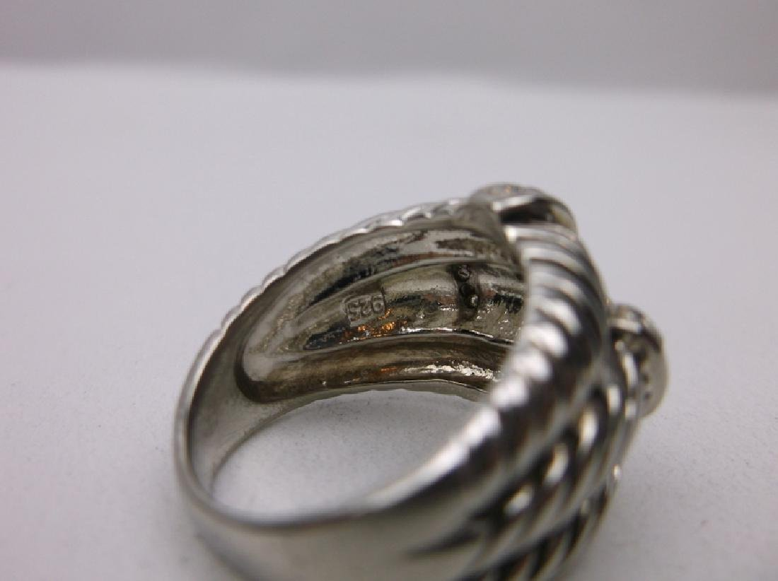 Gorgeous Sterling Silver 3 Rope Ring 6.25 - 2