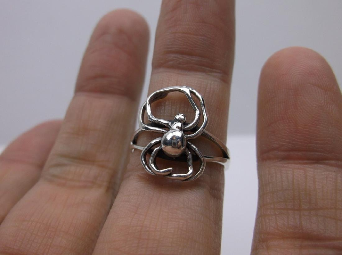 Stunning Sterling Black Widow Spider Ring 7