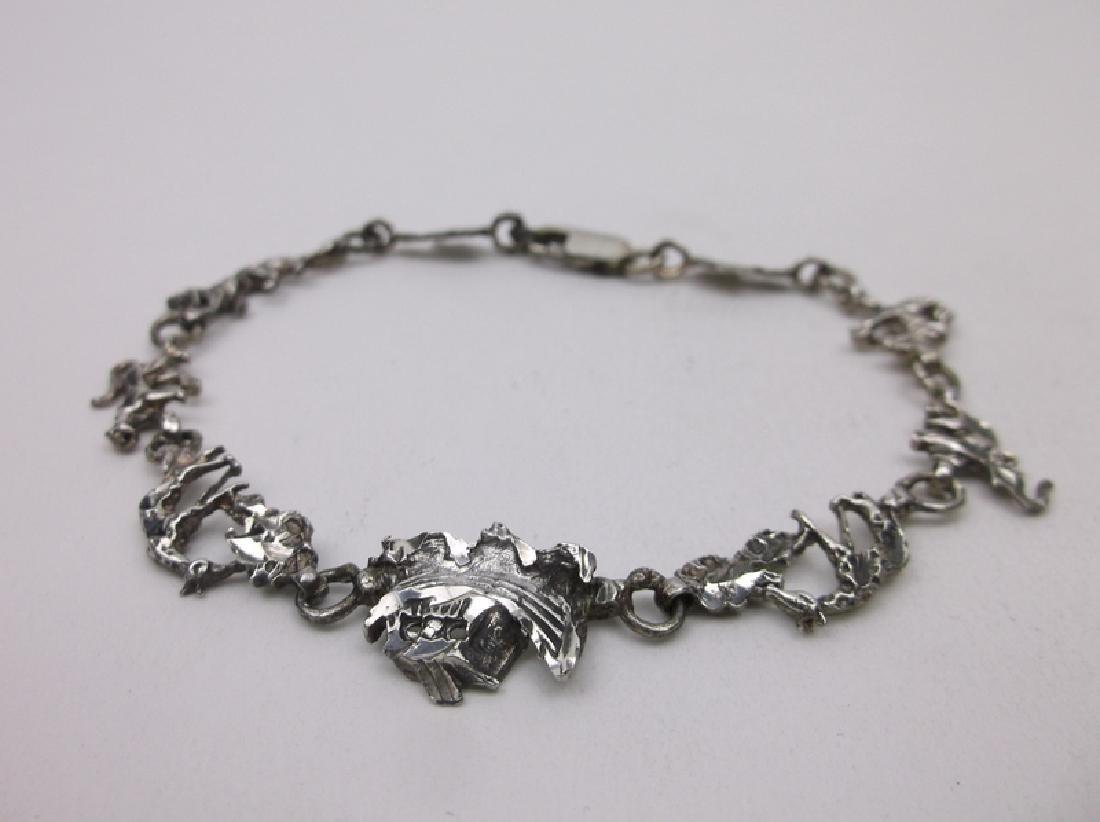 Gorgeous Sterling Silver Noahs Ark Animal Bracelet