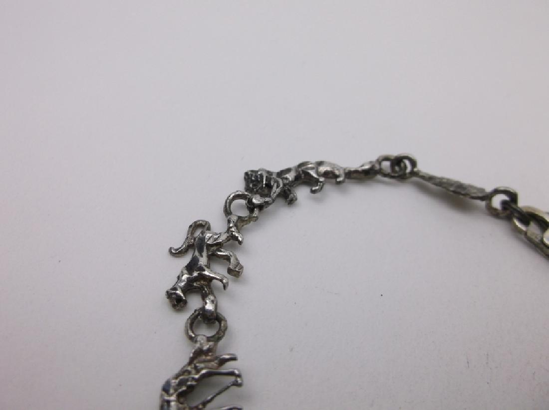 Gorgeous Sterling Silver Noahs Ark Animal Bracelet - 2