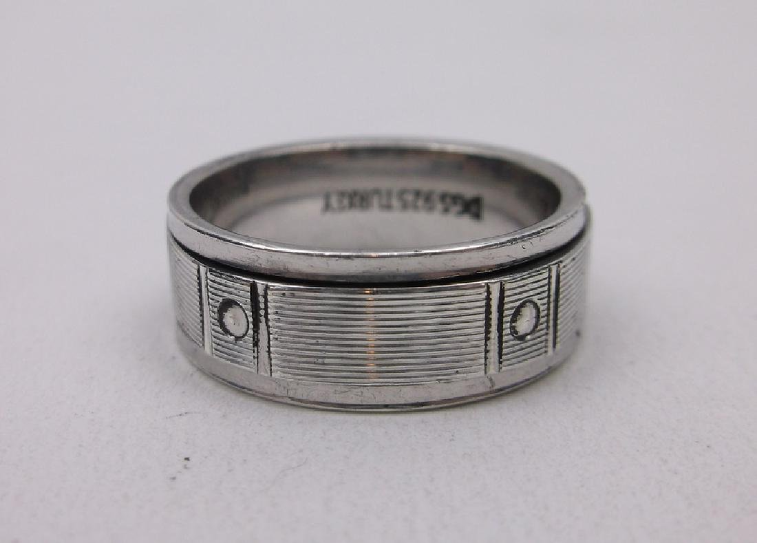 Stunning Sterling Silver Spinning Ring 10 Mens