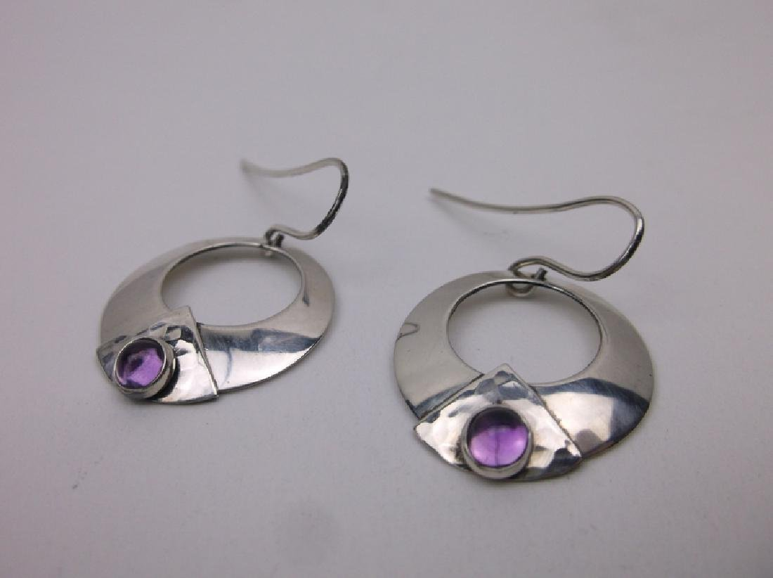 Gorgeous Navajo Sterling Amethyst Earrings