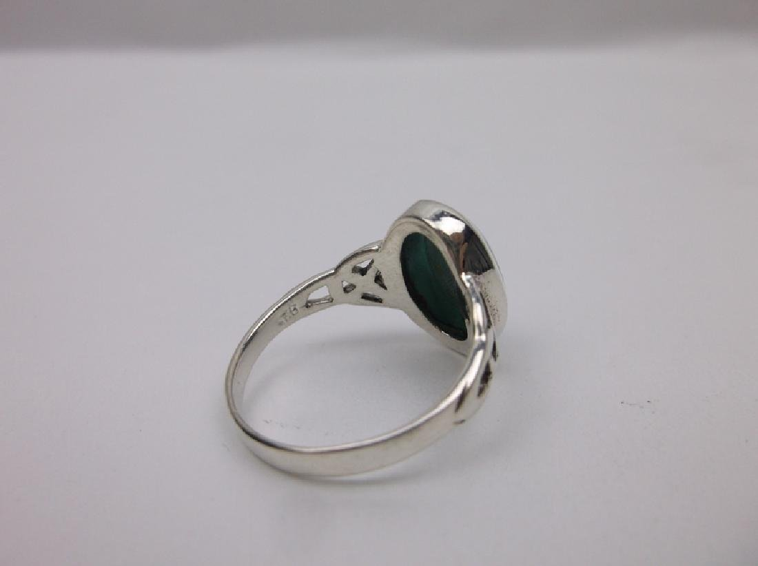 Stunning Sterling Silver Turquoise Ring 6 - 2