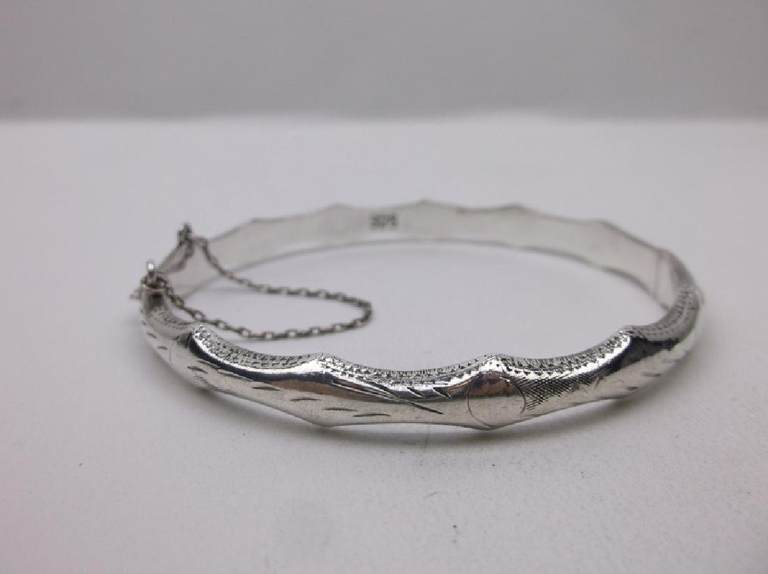 Gorgeous Sterling Silver Bangle Bracelet