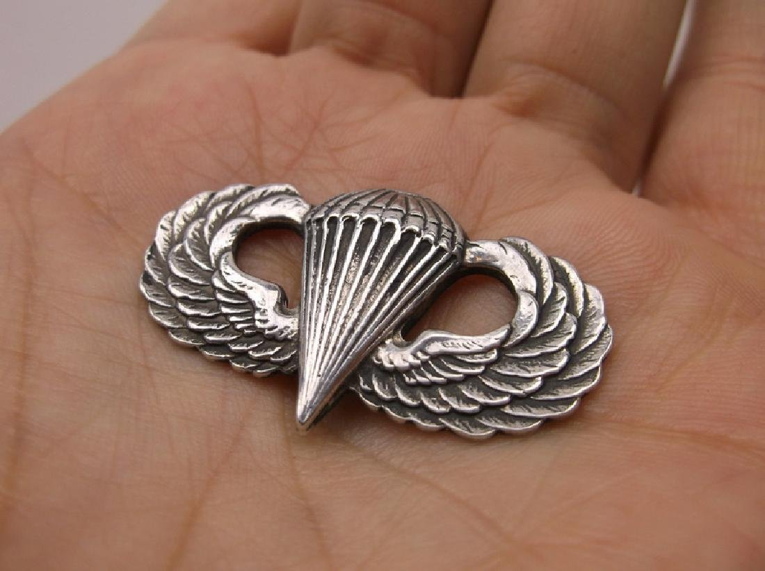Antique WWII US Air Corps Sterling Wing Medal