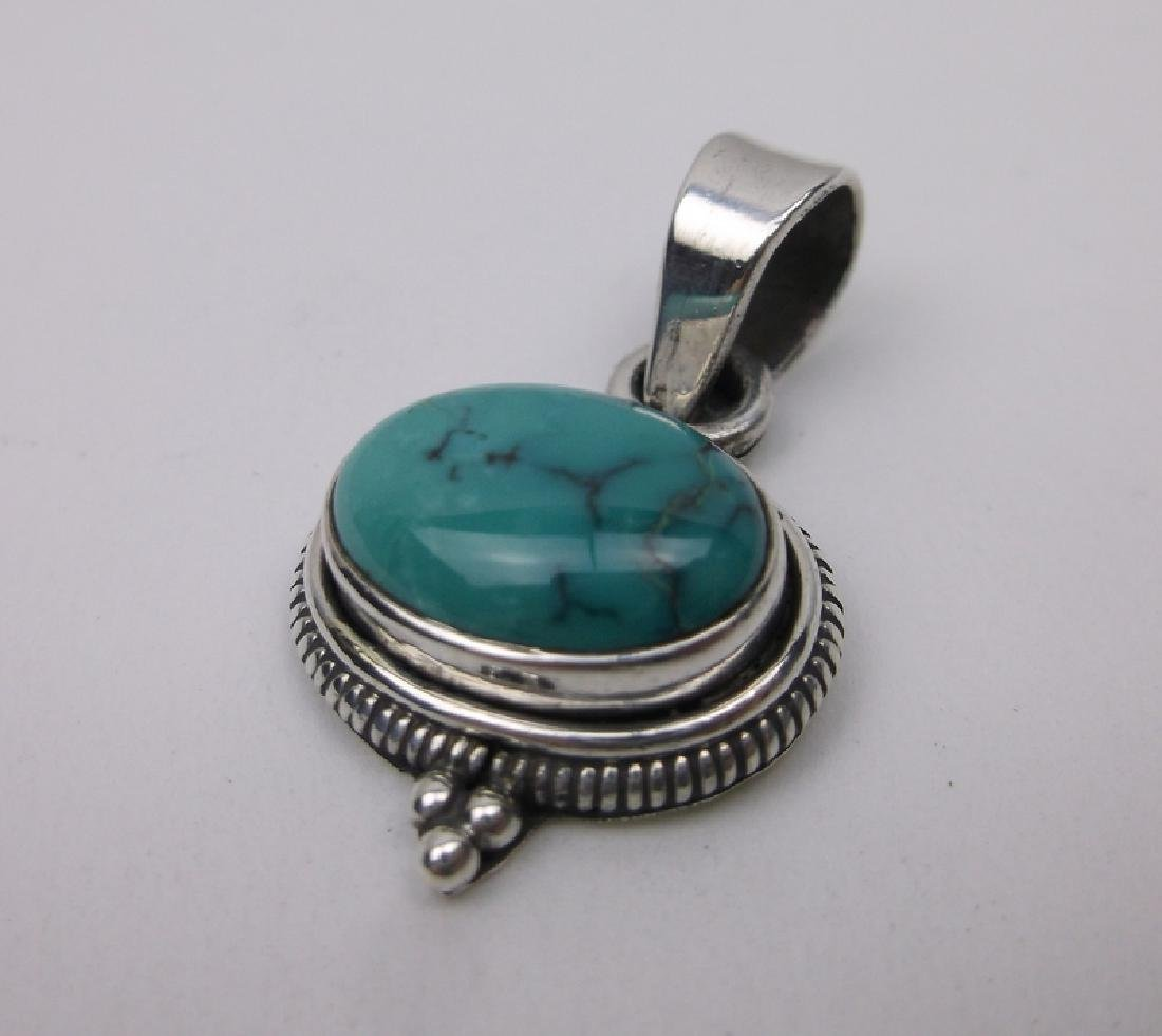 Stunning Sterling Silver Turquoise Pendant