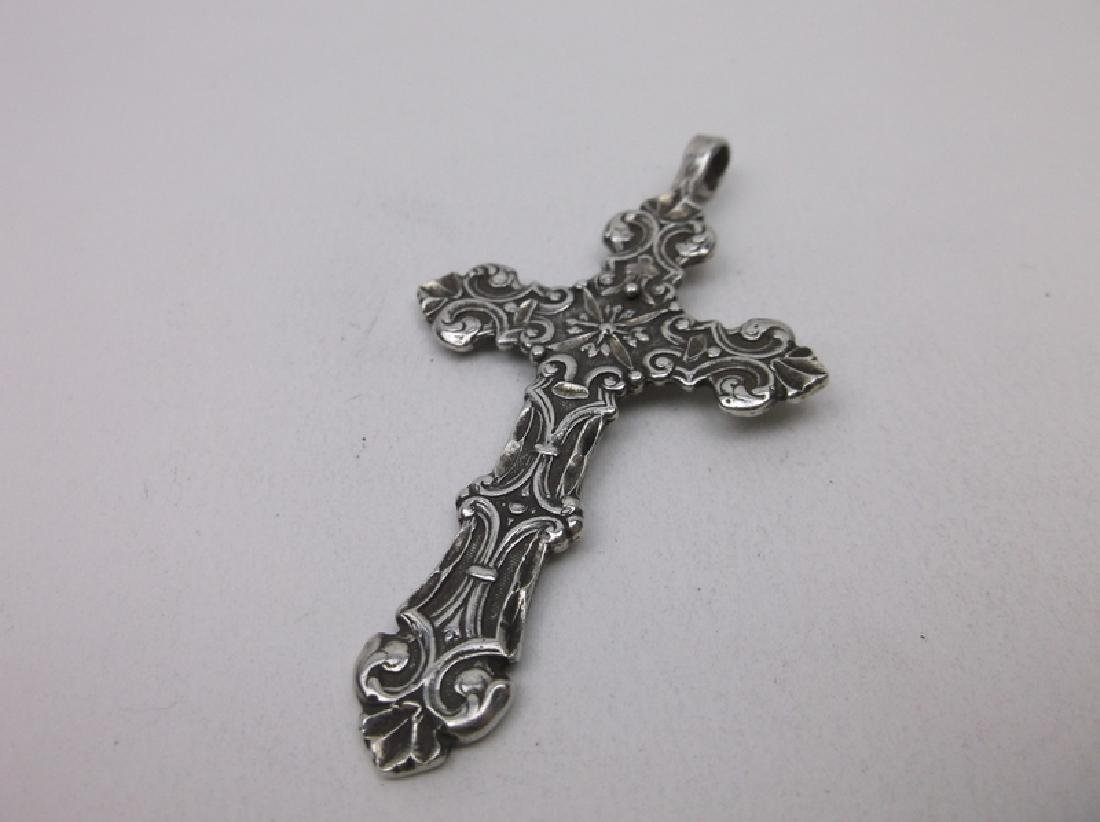 Stunning Large Sterling Silver Cross Pendant