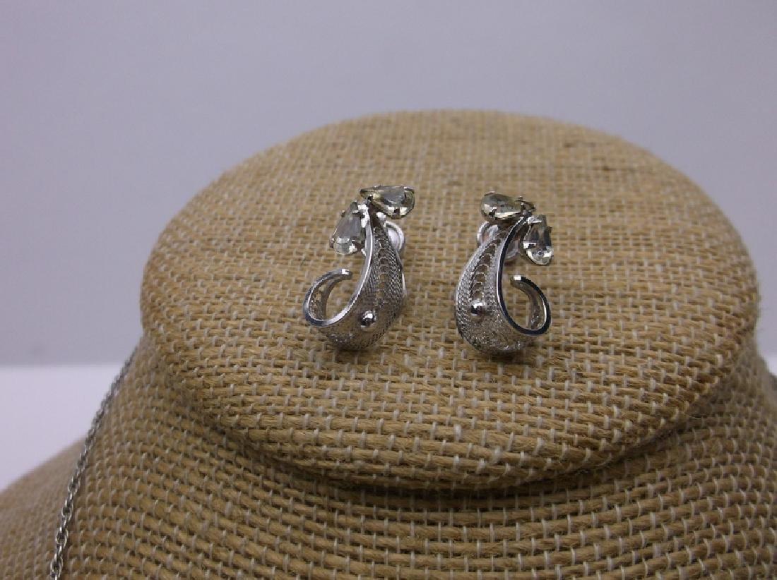 Antique Sorento Sterling Necklace Earrings Set - 3