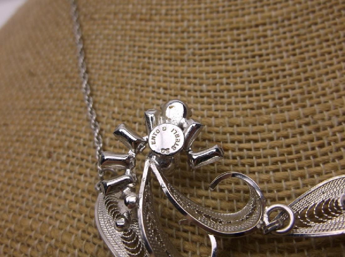 Antique Sorento Sterling Necklace Earrings Set - 4