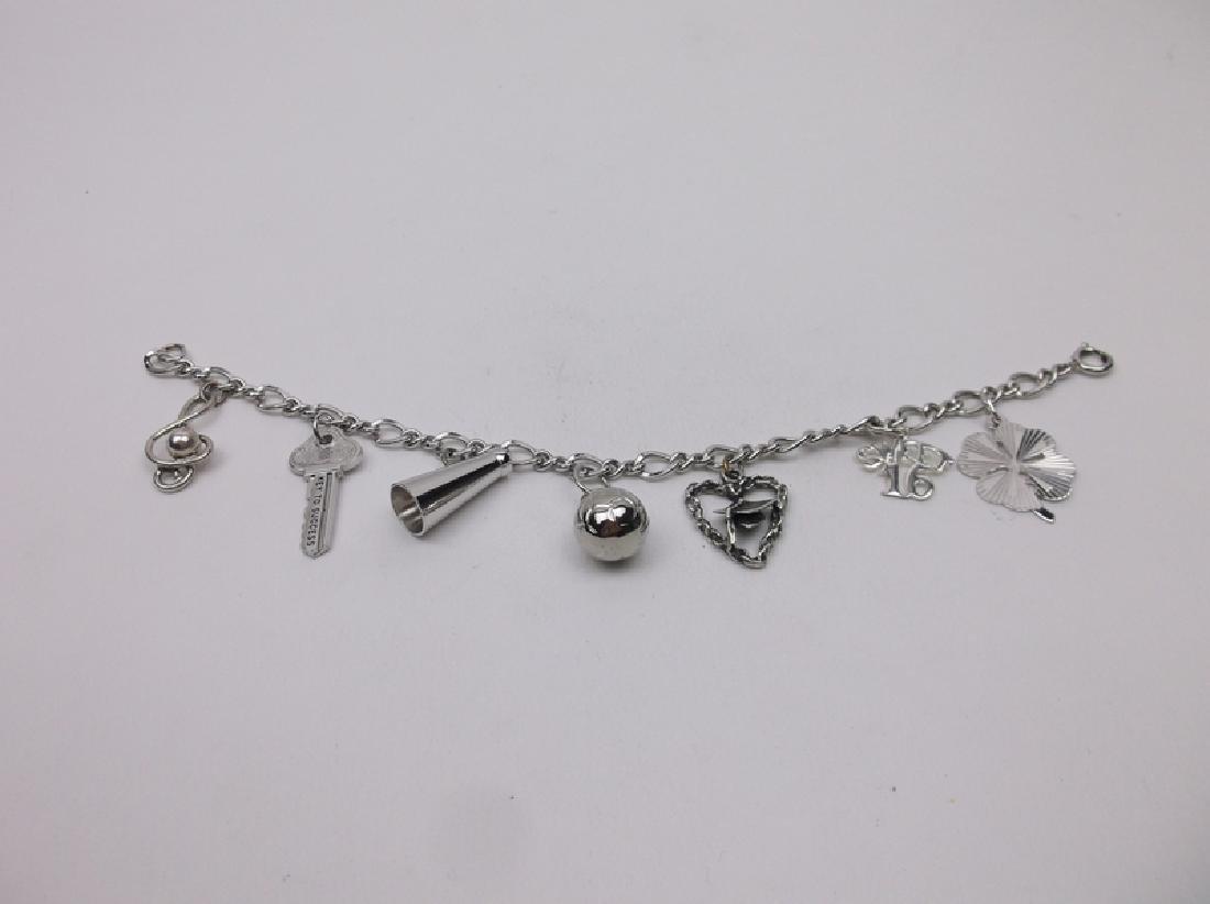 Stunning Wells Sterling Loaded Charm Bracelet