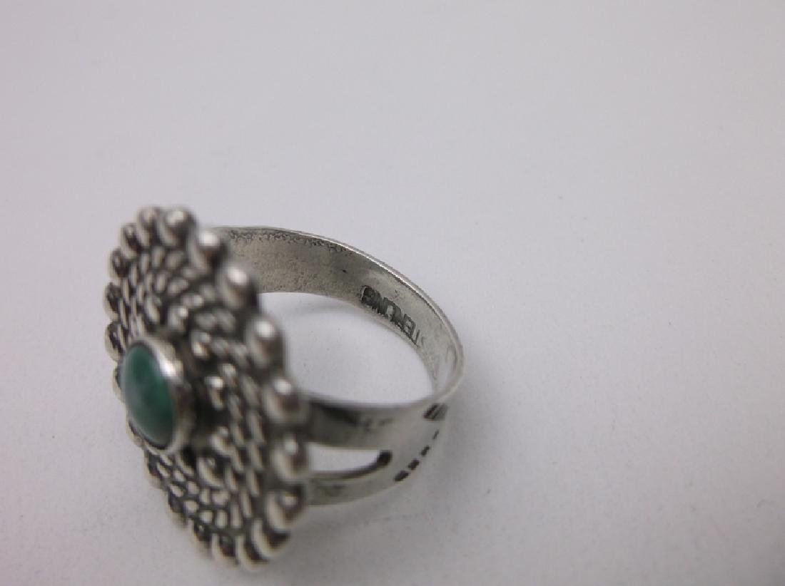 Gorg Old Pawn Sterling Turquoise Ring 8 1950s - 3