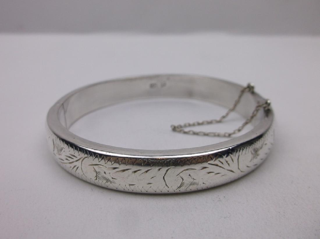 Gorgeous Sterling Silver Bangle Bracelet Heavy
