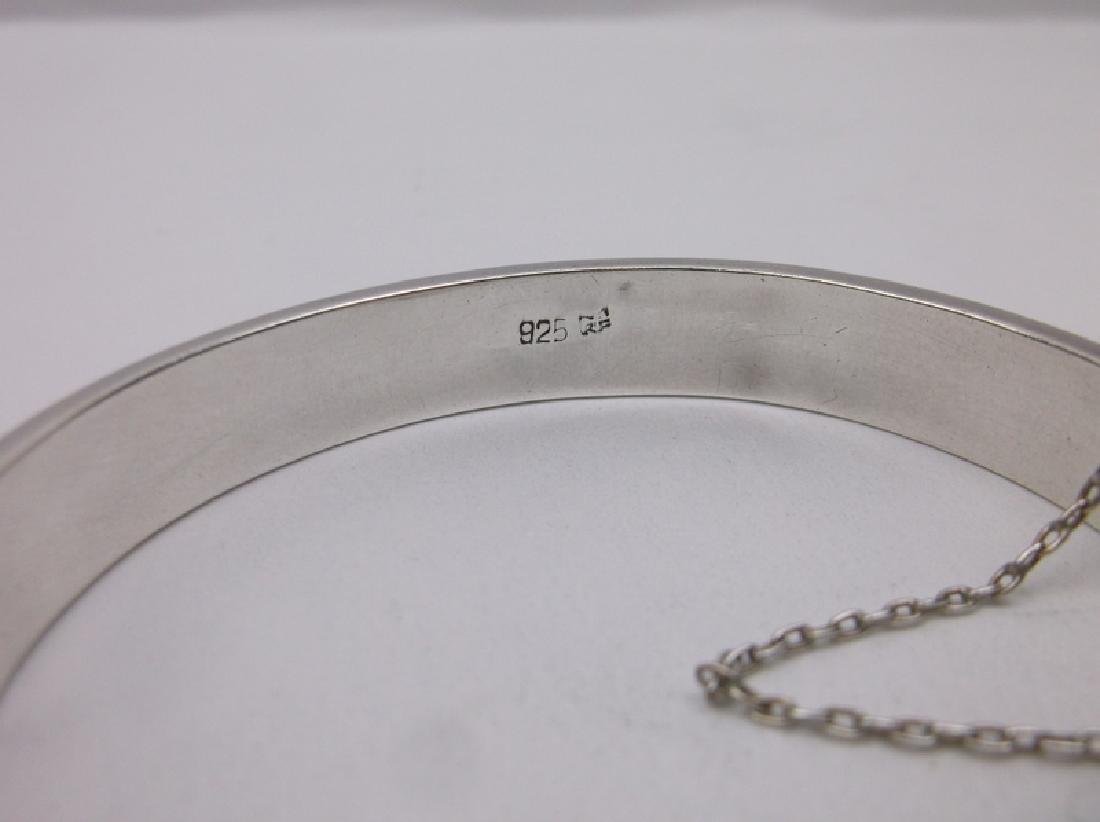 Gorgeous Sterling Silver Bangle Bracelet Heavy - 2