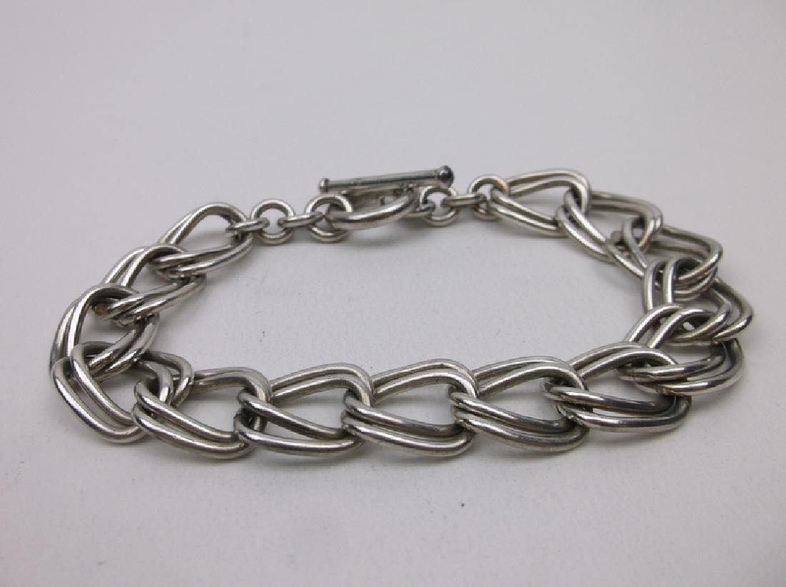 """Huge Sterling Silver Chain Bracelet 8"""" Heavy"""