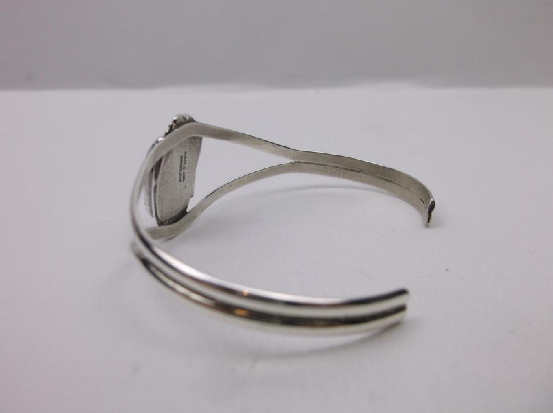 John Whitaker Navajo Sterling Turquoise Bracelet Cuff - 2