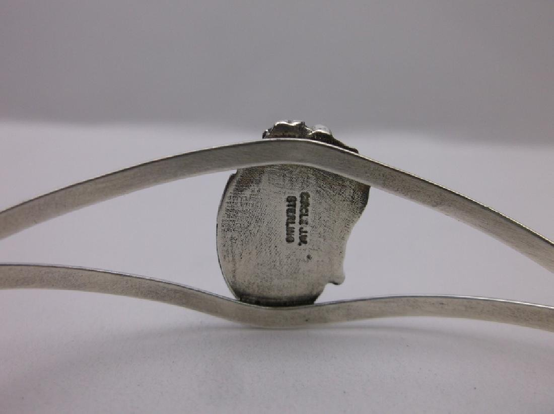 John Whitaker Navajo Sterling Turquoise Bracelet Cuff - 3