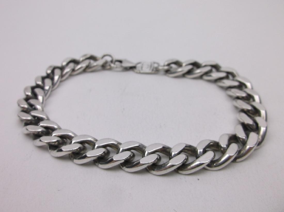 .999 Fine Silver Huge Chain Bracelet Sterling Heavy