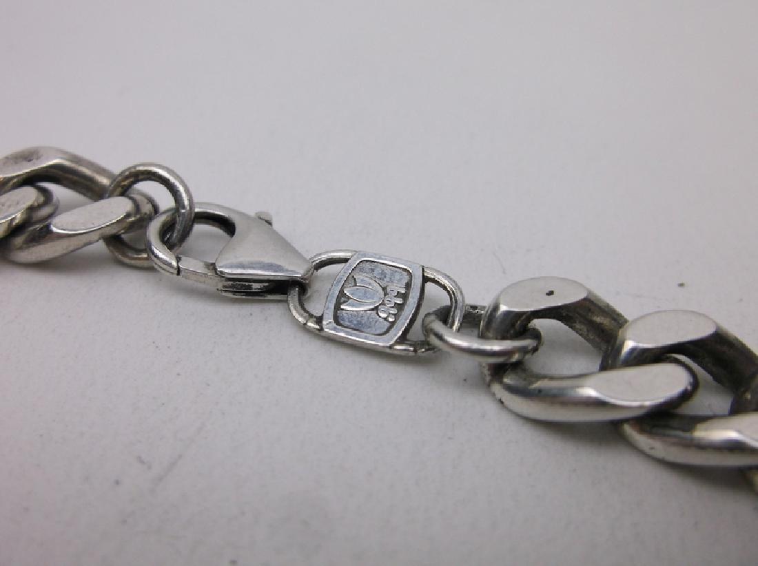 .999 Fine Silver Huge Chain Bracelet Sterling Heavy - 2
