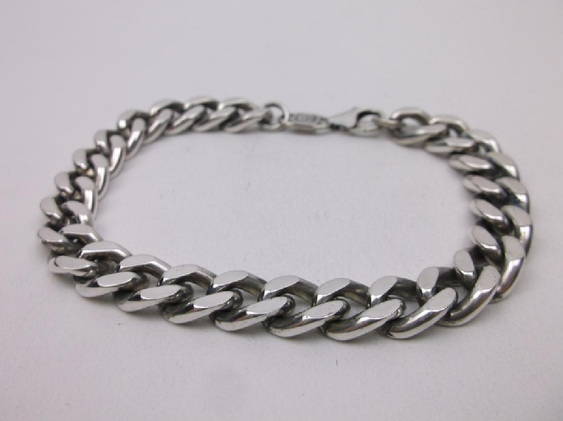 .999 Fine Silver Huge Chain Bracelet Sterling Heavy - 3