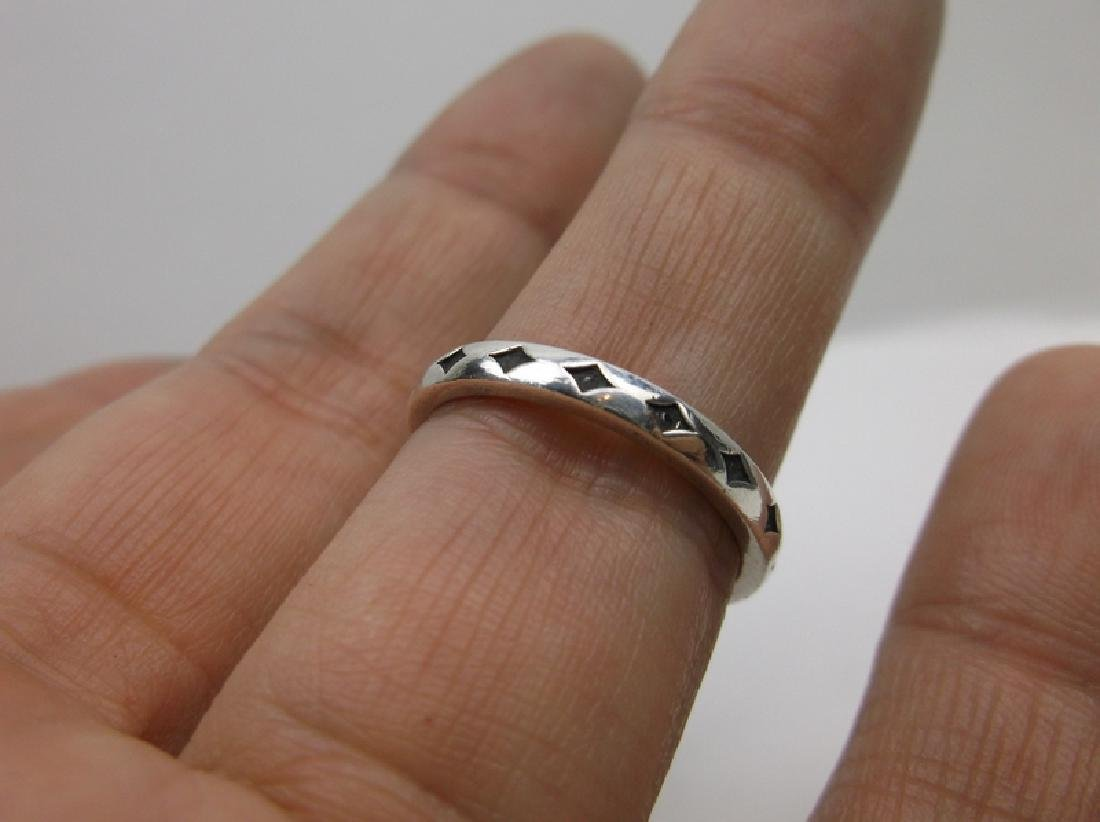 Sterling Silver 16 Genuine Diamond Star Ring 8.5 - 2