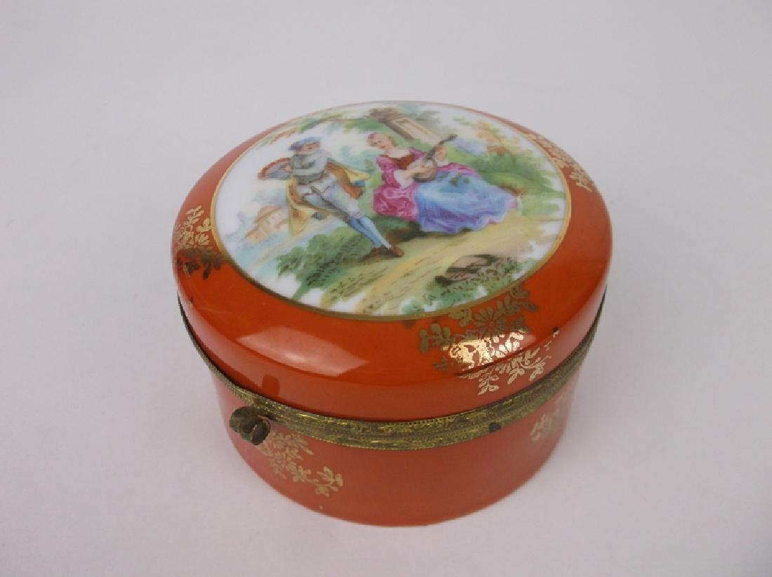 Antique Jlmenau Hand Painted Vanity Box Germany