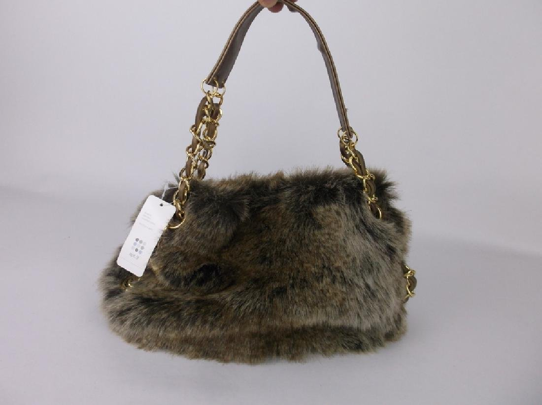 NWT New Faux Fur Handbag Purse