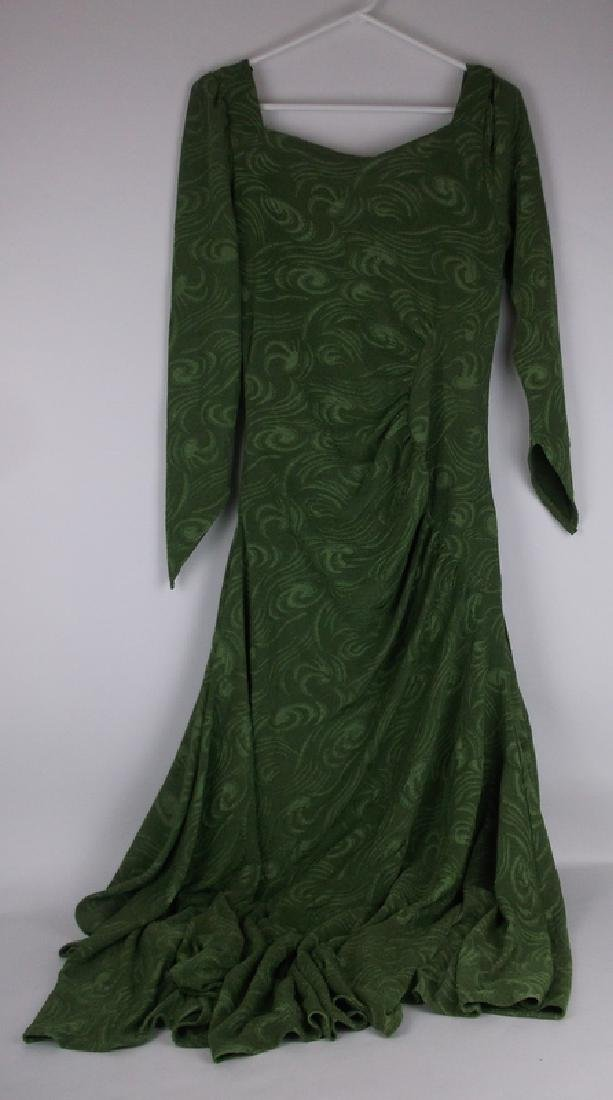 New Ashro Green Evening Gown Dress M