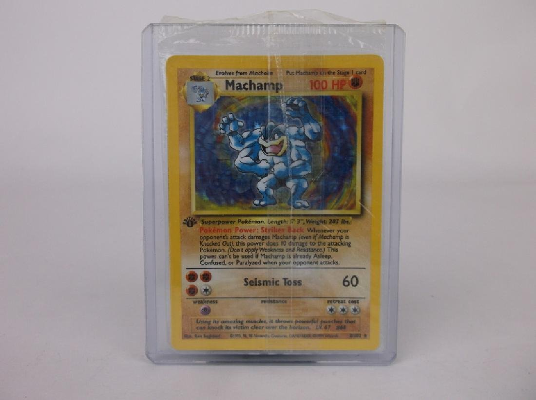 Vintage 1st Edition Machamp Rare Holo Pokemon Card