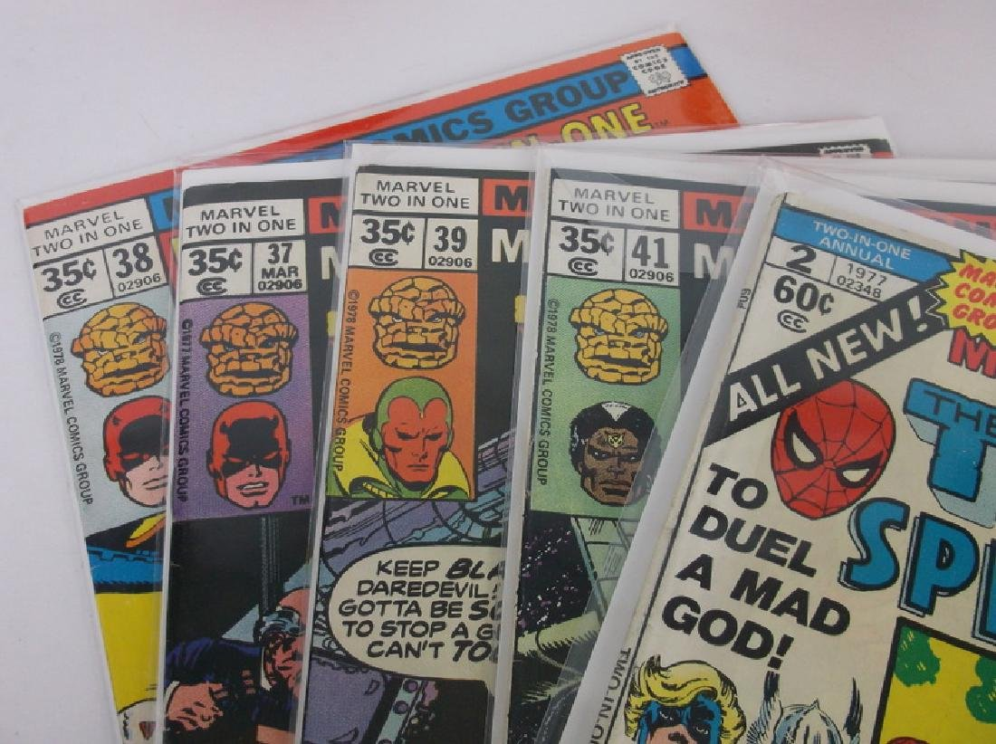 5 Nice 1970s Two In One Comic Books Marvel - 2