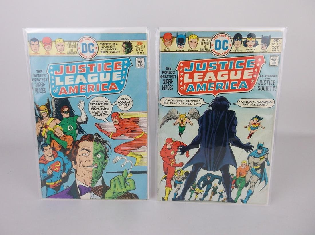 2 Nice 1975 DC Justice League Comic Books
