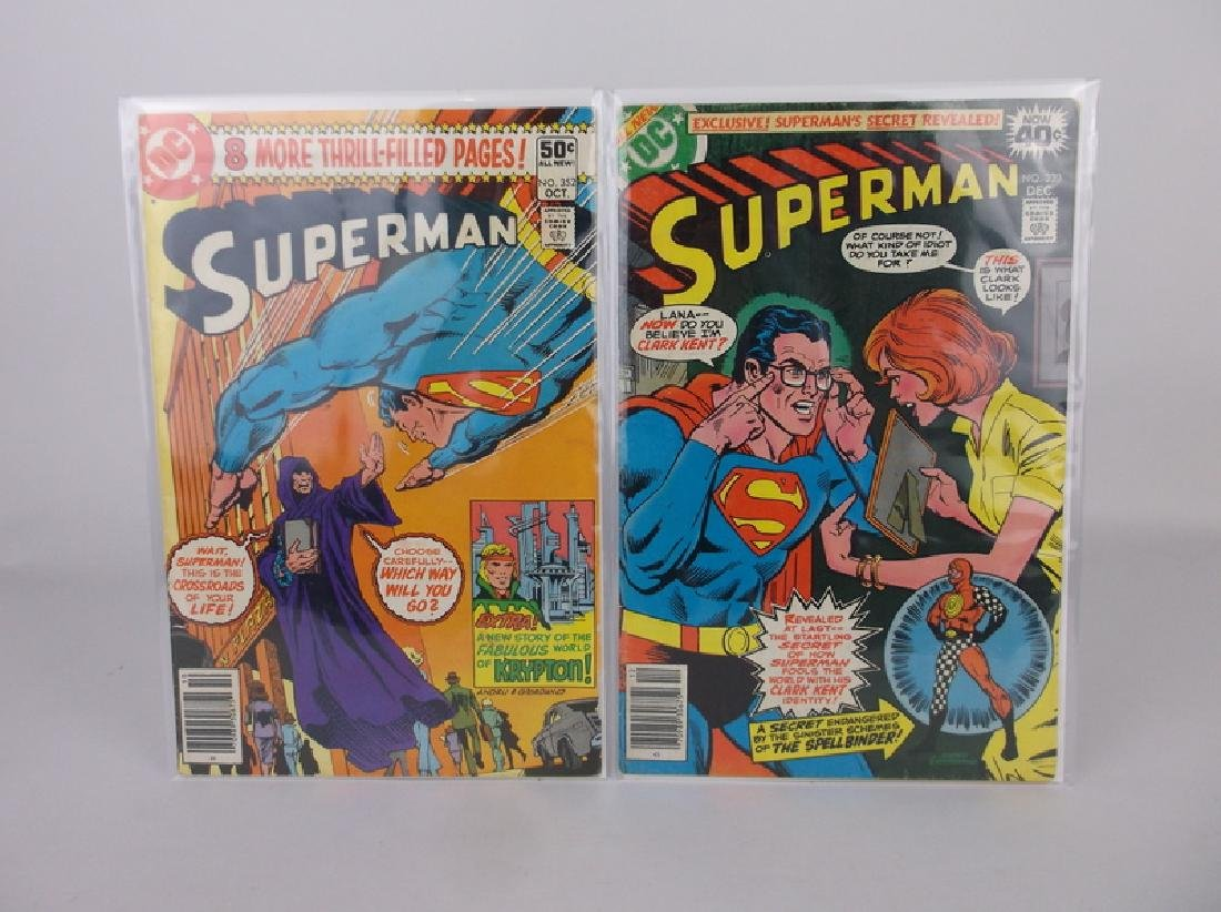 2 Nice 1978-80 Superman Comic Books DC