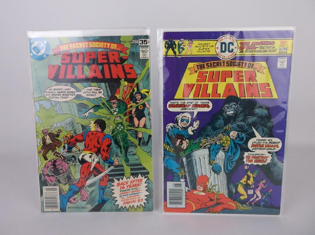2 Nice 1976-78 DC Super Villiams Comic Books #1 14