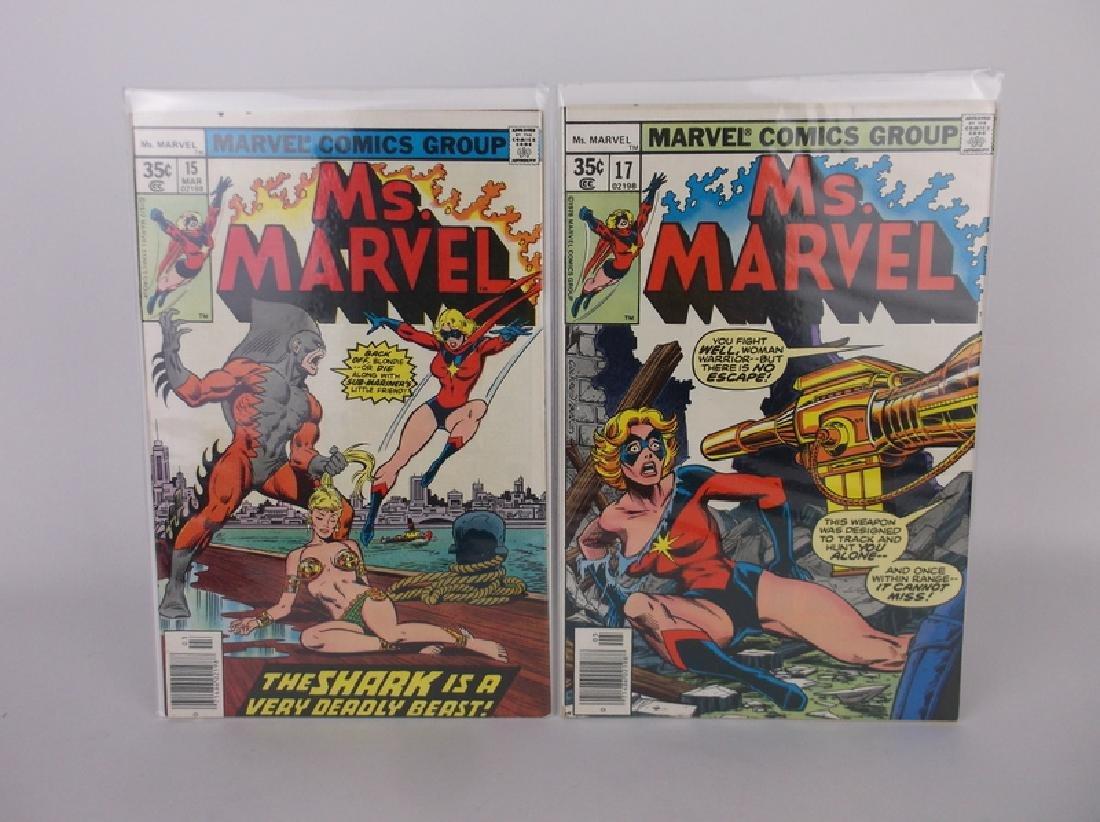 2 Nice 1977-78 Ms Marvel Comic Books