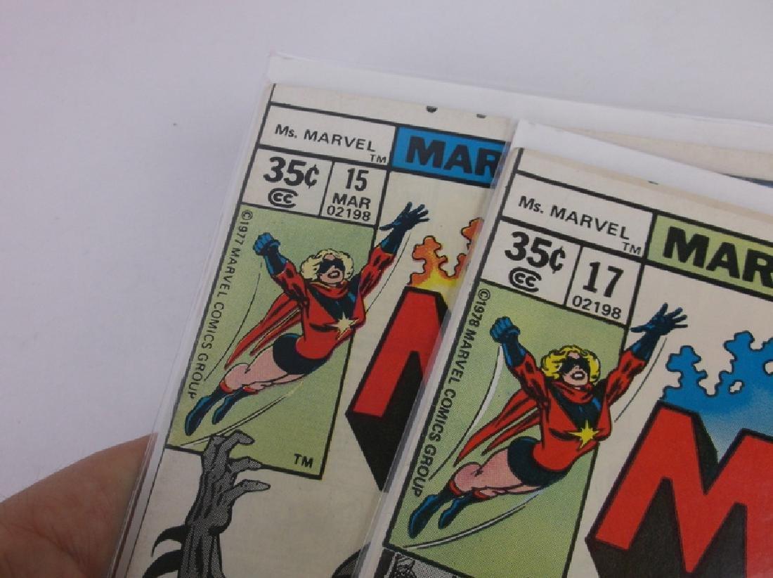 2 Nice 1977-78 Ms Marvel Comic Books - 2