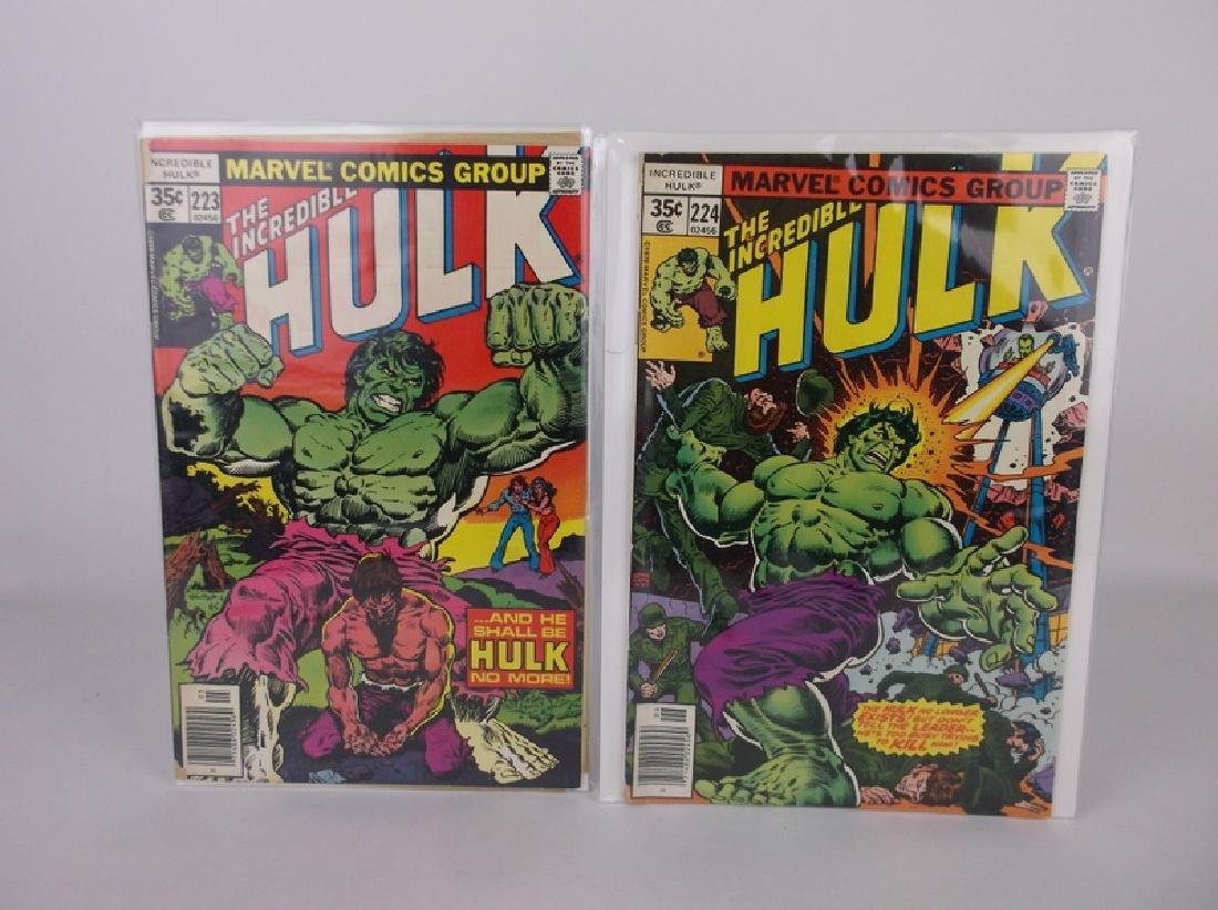 2 1978 Incredible Hulk Comic Books Marvel