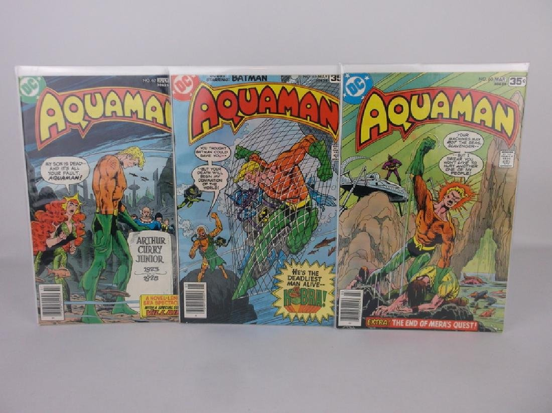 3 Nice 1978 DC Aquaman Comic Books